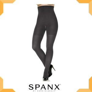 SPANX  High-Waisted Tummy Control Tights- Charcoal